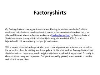 Factory Shirts