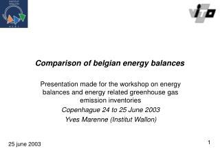 Comparison  of belgian energy balances