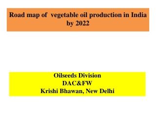 Lecture 23 Oil Crops