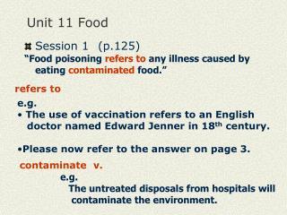 Unit 11 Food