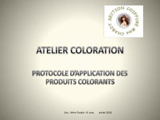 ATELIER COLORATION