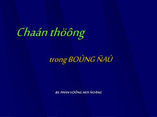 Chaán thöông