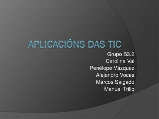 Aplicacións Das TIC
