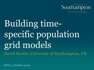 Building time-specific population grid models