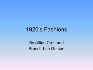 1920 s Fashions