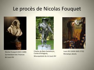 Le procès de Nicolas Fouquet