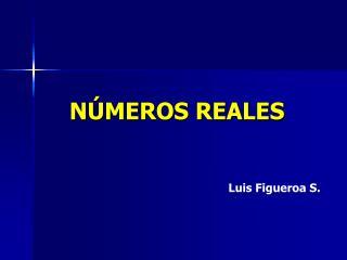 N�MEROS REALES