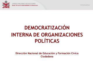 DEMOCRATIZACIÓN  INTERNA DE ORGANIZACIONES POLÍTICAS