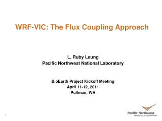 WRF-VIC: The Flux Coupling Approach