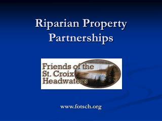 Riparian Property Partnerships