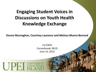 Engaging Student Voices in Discussions on Youth Health Knowledge Exchange