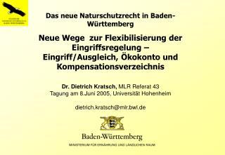 Das neue Naturschutzrecht in Baden-Württemberg