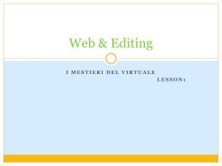Web & Editing