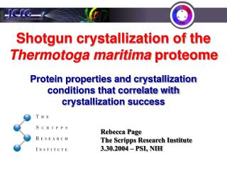 Shotgun crystallization of the  Thermotoga maritima  proteome