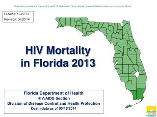 HIV Mortality in Florida 2013