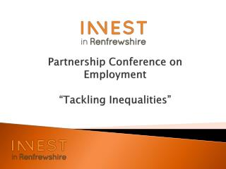"""Partnership Conference on Employment """"Tackling Inequalities"""""""