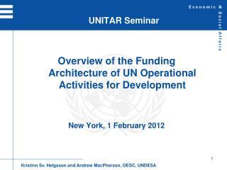 UNITAR Seminar