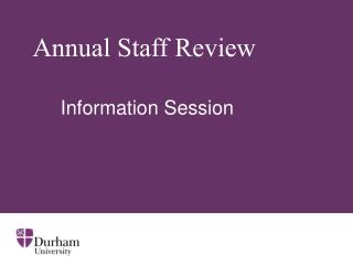 Annual Staff Review