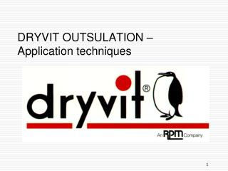 DRYVIT OUTSULATION � Application techniques