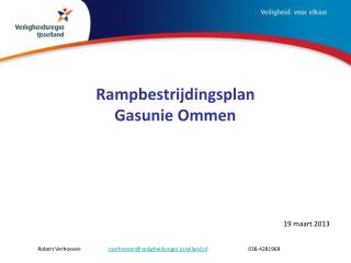 Rampbestrijdingsplan  Gasunie Ommen