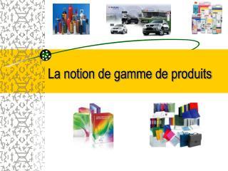 La notion de gamme de produits