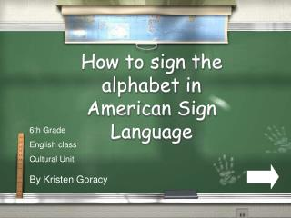 How to sign the alphabet in American Sign Language