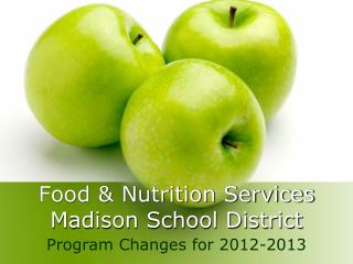 Food & Nutrition Services Madison School District