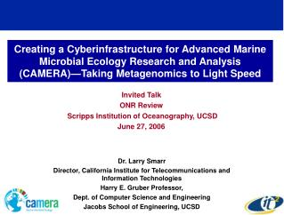 Invited Talk  ONR Review  Scripps Institution of Oceanography, UCSD June 27, 2006