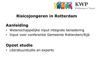 Risicojongeren in Rotterdam