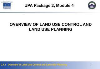 UPA Package 2, Module  4