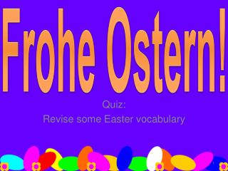 Quiz: Revise some Easter vocabulary