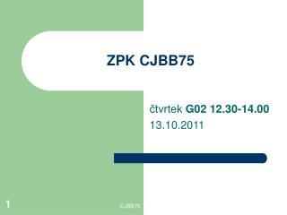 ZPK CJBB75