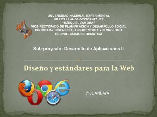 Diseño y estándares para la Web