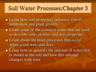 Soil Water Processes:Chapter 3