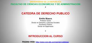 UNIVERSIDAD DE LA REPUBLICA FACULTAD DE CIENCIAS ECONOMICAS Y DE ADMINISTRACION �