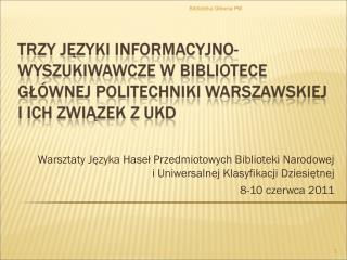 Biblioteka G?�wna PW