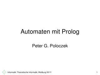 Automaten mit Prolog