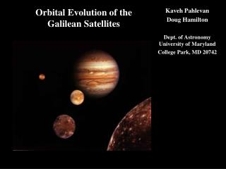 Orbital Evolution of the Galilean Satellites