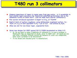 T480 run 3 collimators