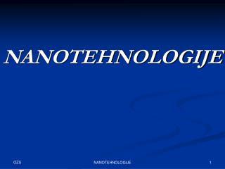 NANOTEHNOLOGIJE