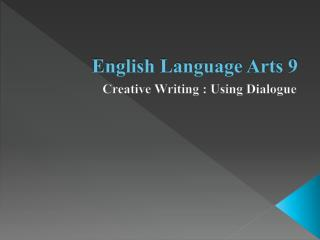 English Language Arts 9