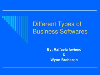 Different Types of Business Softwares