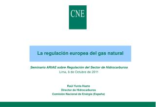 La regulación europea del gas natural