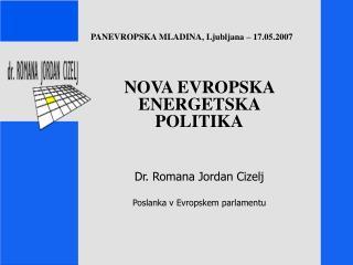 PANEVROPSKA MLADINA, Ljubljana – 17.05.2007