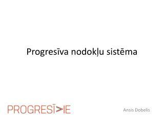 Progresīva nodokļu sistēma