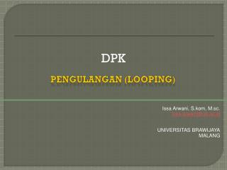 Pengulangan  (looping)