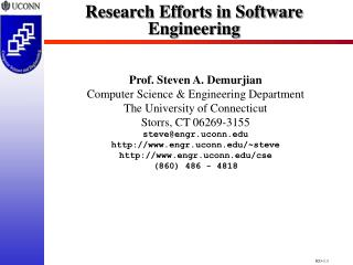 Research Efforts in Software Engineering