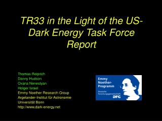 TR33 in the Light of the US-Dark Energy Task Force Report