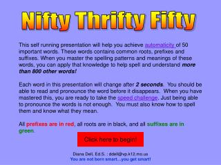 Nifty Thrifty 50 PowerPoint Beginner