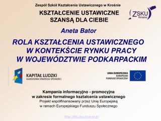 Zespół Szkół Kształcenia Ustawicznego w Krośnie